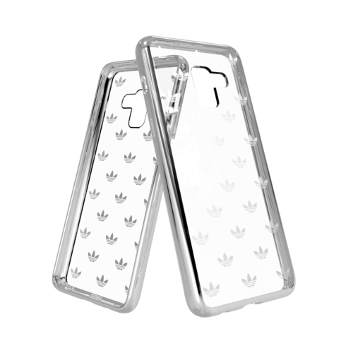 adidas Clear Case Entry Galaxy A8 Silver Colored