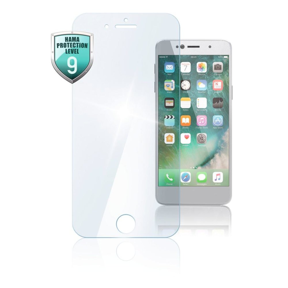 "Hama Echtglas-Displaysch. ""Premium Crystal Glass"" iPhone 6 Pl/6s Pl/7 Pl/8 Pl Transparent"