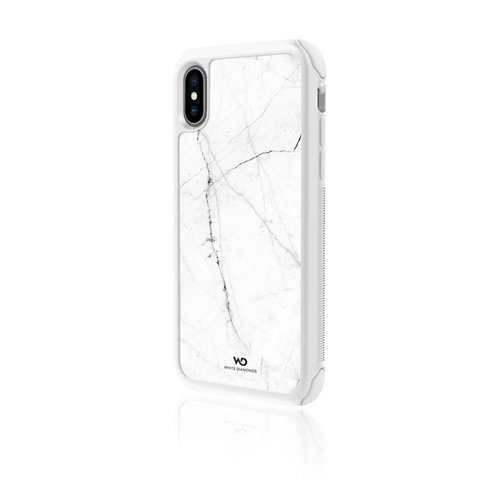 White Diamonds Cover Tough Marble Apple iPhone X/XS Weiß