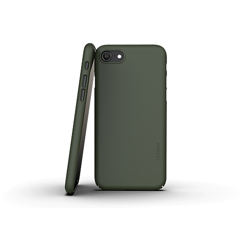 Nudient Slim Cover V3 iPhone SE / 8 Tannengrün