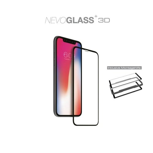 Nevox NEVOGLASS 3D - iPhone 12 und iPhone 12 Pro (6.1) curved Glas mit EASY APP Transparent