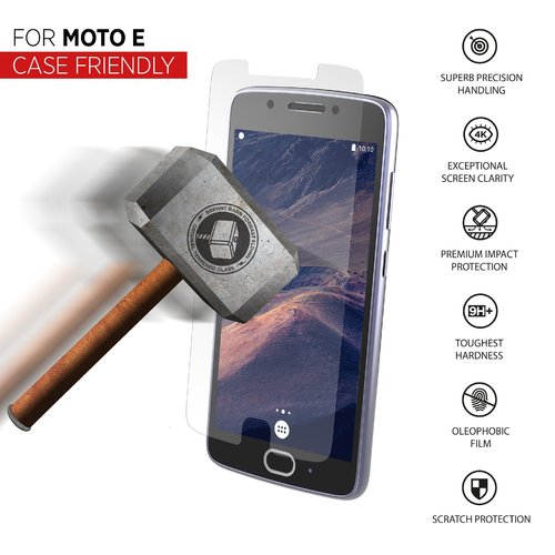 STRAX Glass Case-Fit Moto E Clear