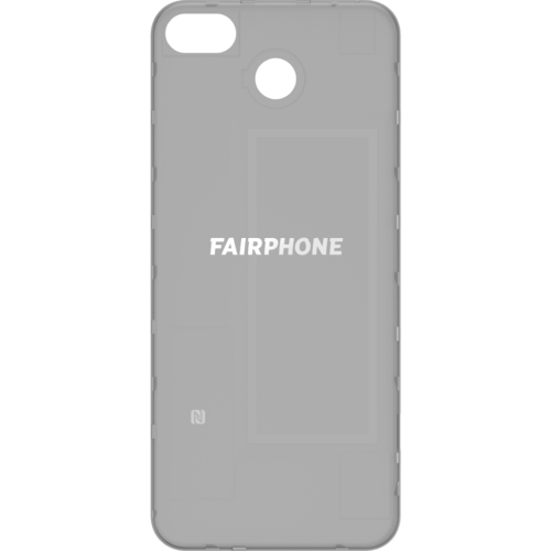 Fairphone FP3 Back Cover Schwarz