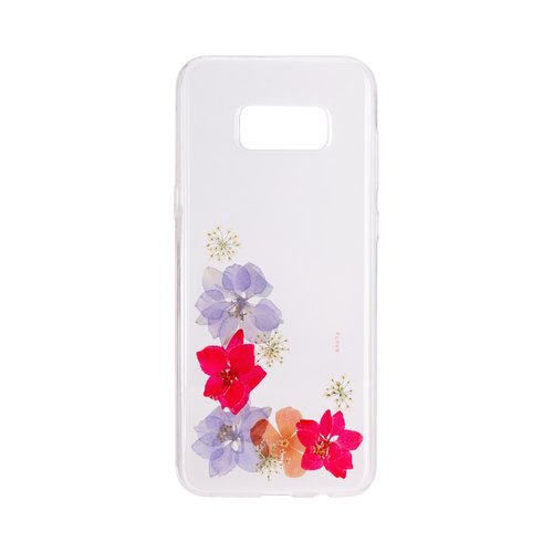 STRAX iPlate Real Flower Amelia Galaxy S8+ Mehrfarbig