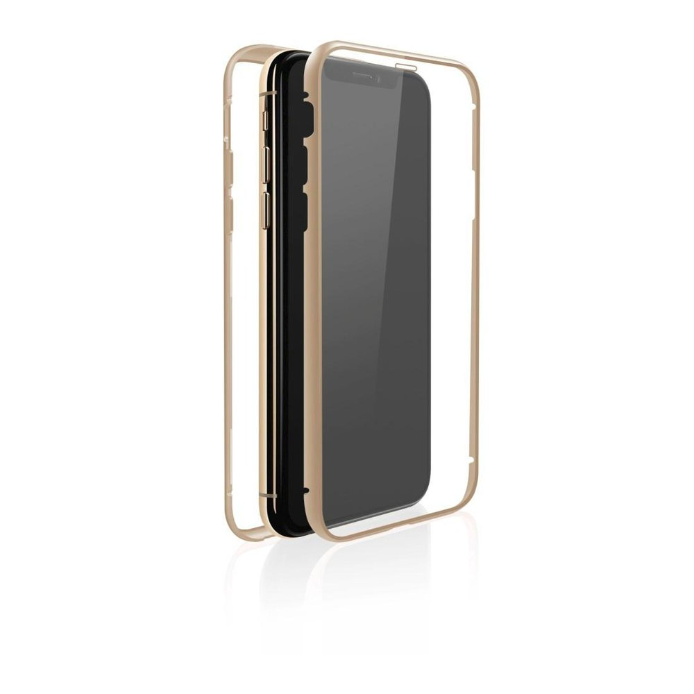 "White Diamonds Cover ""360° Glass"" Apple iPhone XS Max Gold"