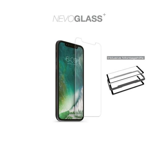 Nevox NEVOGLASS - iPhone 12 und iPhone 12 Pro (6.1) tempered Glas mit EASY APP Transparent