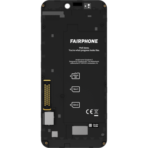 Fairphone FP3 Display Module Schwarz