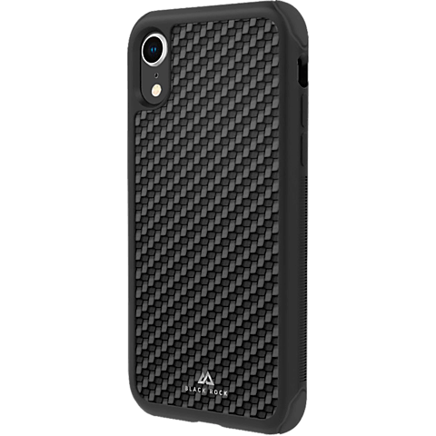 Black Rock Robust Real Carbon Case Apple iPhone XR Schwarz