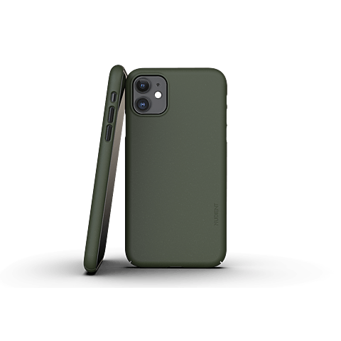 Nudient Slim Cover V3 Apple iPhone 11 Tannengrün