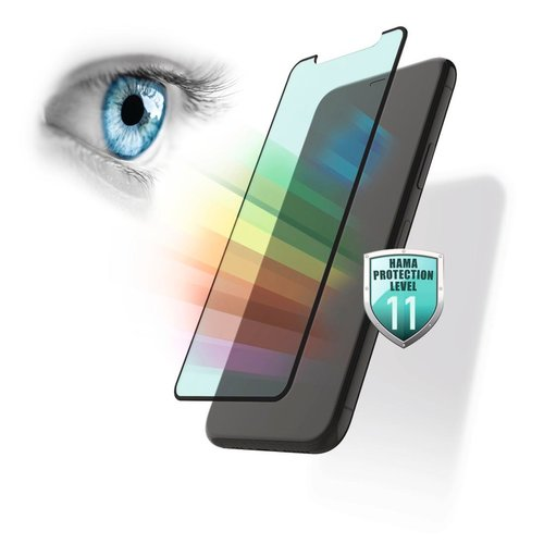 Hama 3D-Full-Screen-Schutzglas Anti-Bluelight+Antibakt. iPhone 6/6s/7/8/SE 20 Transparent