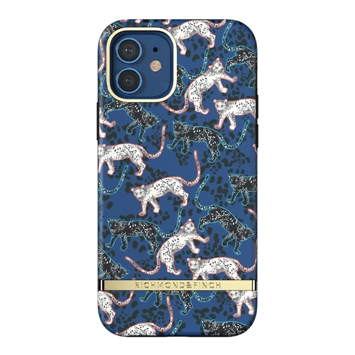 Richmond & Finch Blue Leopard iPhone 12 & 12 Pro iPhone 12 Pro Blau