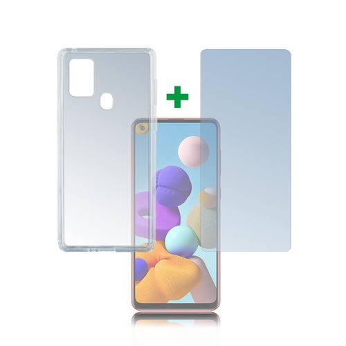 4Smarts 360° Protection Set Samsung Galaxy A21s Transparent