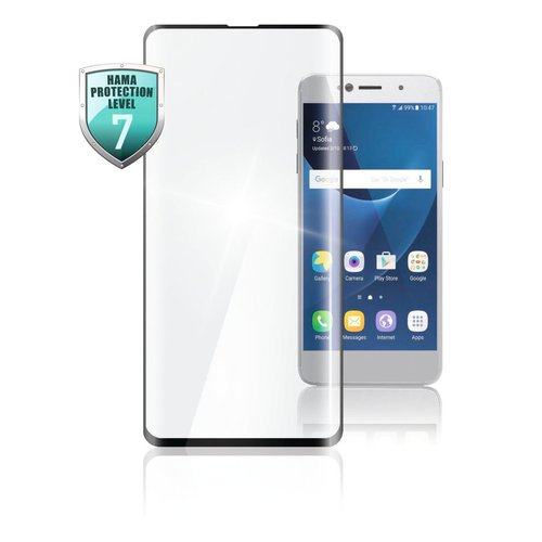 Hama Full-Screen-Schutzglas Samsung Galaxy A51/S20 FE Schwarz Transparent