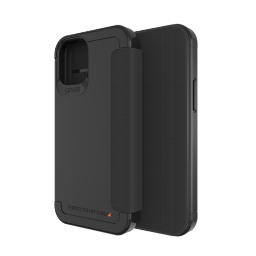 Gear4 Wembley Flip iPhone 12 mini Schwarz