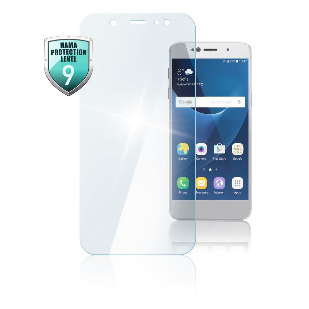 "Hama Echtglas-Displayschutz ""Premium Crystal Glass"" Samsung Galaxy A71 Transparent"
