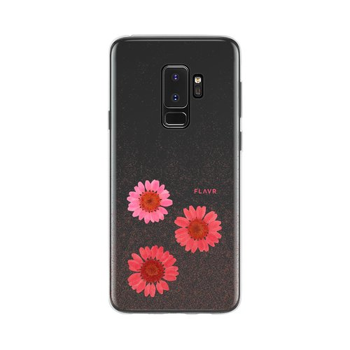 STRAX iPlate Real Flower Gloria Galaxy S9+ Pink
