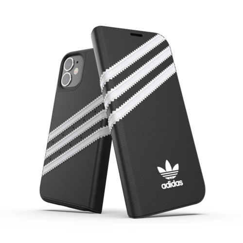 adidas Booklet Case PU iPhone 12 mini Schwarz