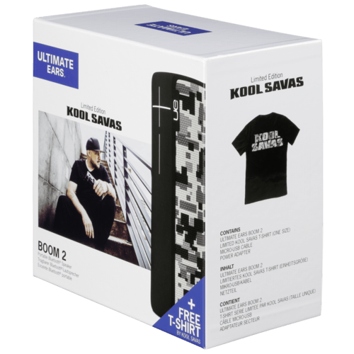 ULTIMATE EARS Boom 2 Kool Savas Limited Edition + Free T-Shirt Grau