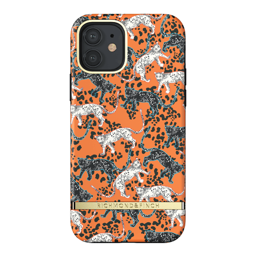 Richmond & Finch Orange Leopard iPhone 12 & 12 Pro iPhone 12 Pro Orange