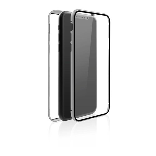 Black Rock Cover 360° Glass Apple iPhone XR Silber