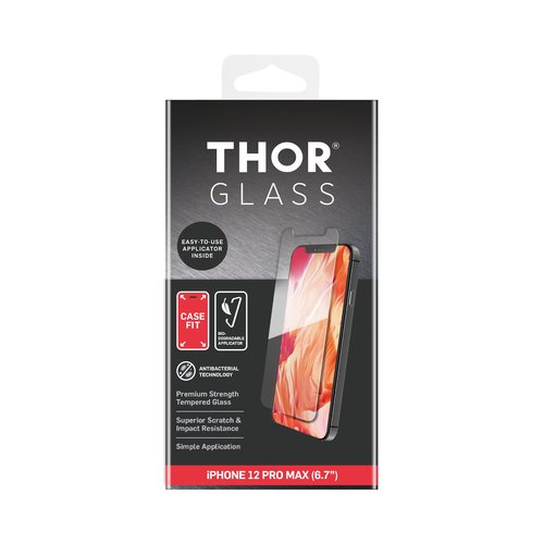 STRAX DT Glass CF 2D Anti Bac iPhone 12 Pro Max Transparent