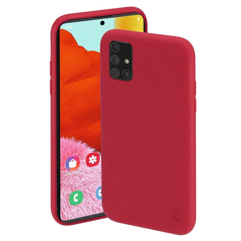 "Hama Cover ""Finest Feel"" Samsung Galaxy A51 Rot"