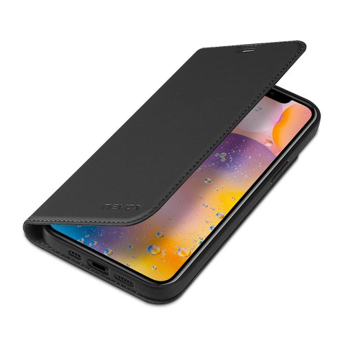 Nevox Vario Series - iPhone 12 und iPhone 12 Pro (6.1) Booktasche Basaltgrau