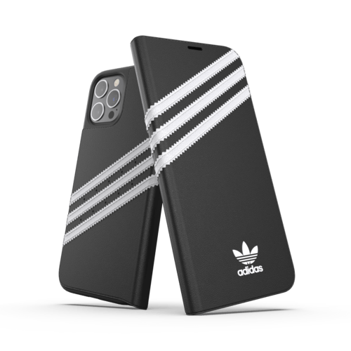 adidas Booklet Case PU iPhone 12 Pro Max Schwarz